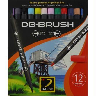 Set 12 feutres pinceau DB-Brush