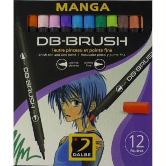 Set 12 feutres pinceau DB-Brush Manga