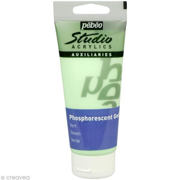 Gel phosphorescent Pébéo Studio - Vert 100 ml - Photo n°1