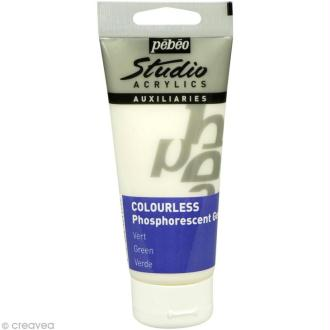 Gel phosphorescent Pébéo Studio - Vert incolore 100 ml