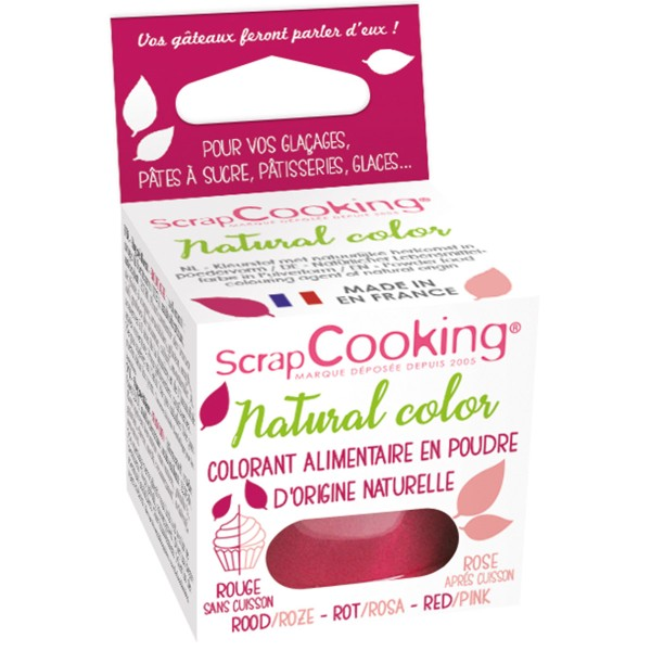 Colorant poudre alimentaire naturel Rouge 10 gr - Photo n°1