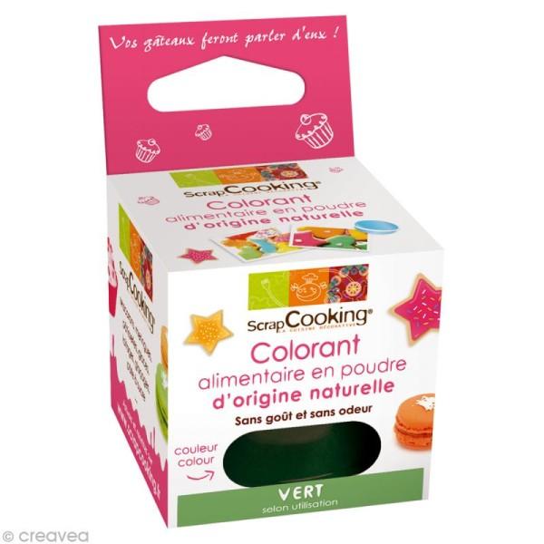 Colorant poudre alimentaire naturel Vert 10 gr - Photo n°1
