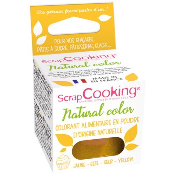 Colorant poudre alimentaire naturel Jaune 10 gr - Photo n°1