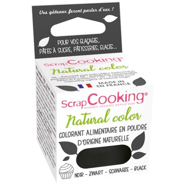 Colorant poudre alimentaire naturel Noir 3 gr - Photo n°1