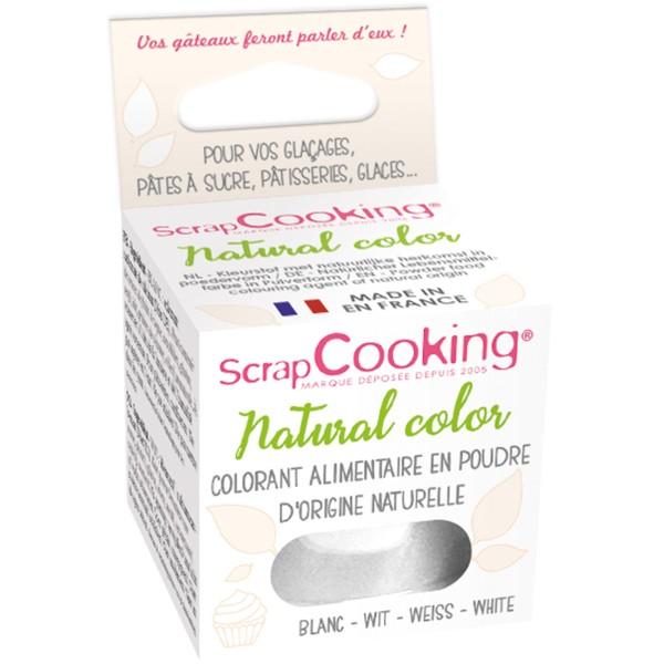 Colorant poudre alimentaire naturel Blanc 10 gr - Photo n°1