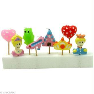 bougies Princesse pour gâteau x 8