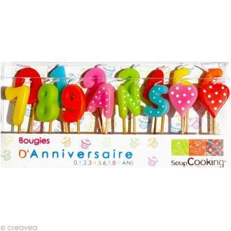 bougies anniversaire Chiffres x 15