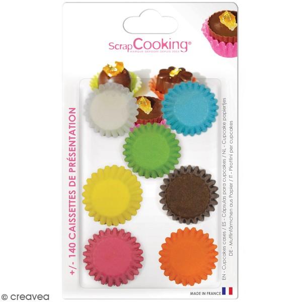 Caissettes cupcakes en papier Multi couleurs x 140 environ - Photo n°1