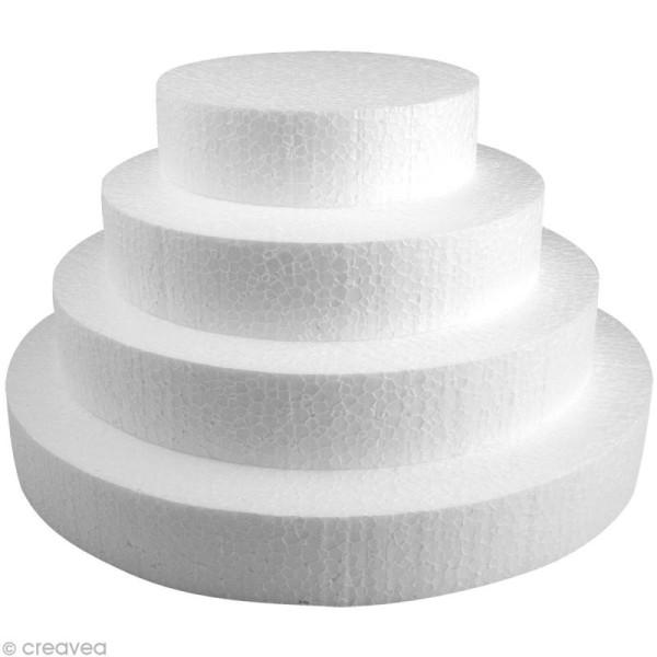 Disque en polystyrène expansé 15 cm - Photo n°3