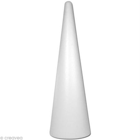 Cône géant en polystyrène 80 cm - Photo n°1