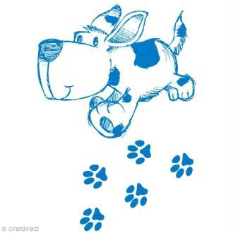 Pochoir MyStyle pour textile Petit chien 21 x 14,8 cm