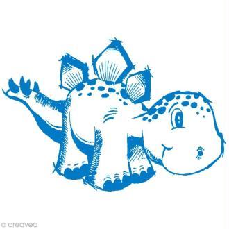 Pochoir MyStyle pour textile Dinosaure 21 x 14,8 cm