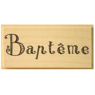 Tampon Baptême Mot baptême