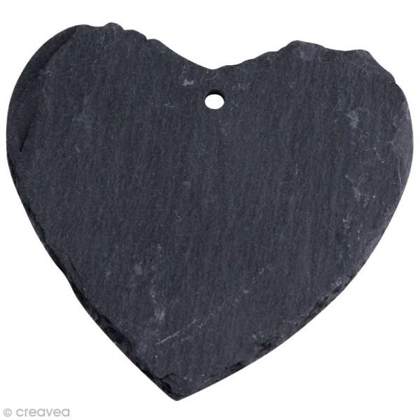 Coeur en ardoise à suspendre x 3 - Photo n°1