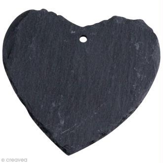 Coeur en ardoise à suspendre x 3