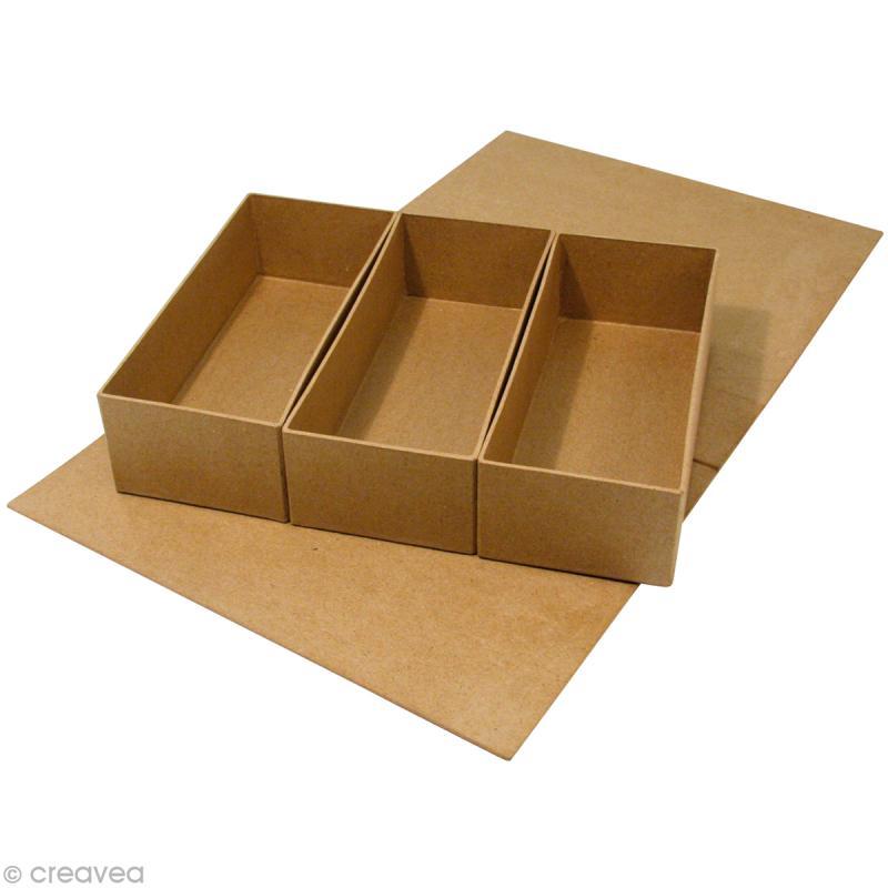 Bo tes en papier m ch recouvrir boite en papier mach for Muebles de carton moldes