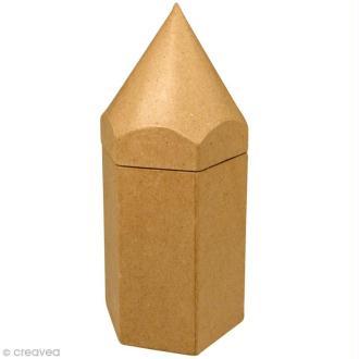 Pot à crayons 22 cm en papier mâché - Grand modèle