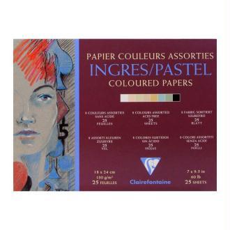 Bloc encollé Ingres Pastel couleur 130g