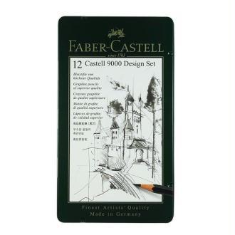 Boite de 12 Crayons castell 9000 Design 5B à 5H