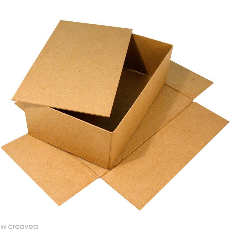 bo te recouvrir 19 5 x 33 x 11 cm en papier m ch grand mod le boite en papier mach. Black Bedroom Furniture Sets. Home Design Ideas