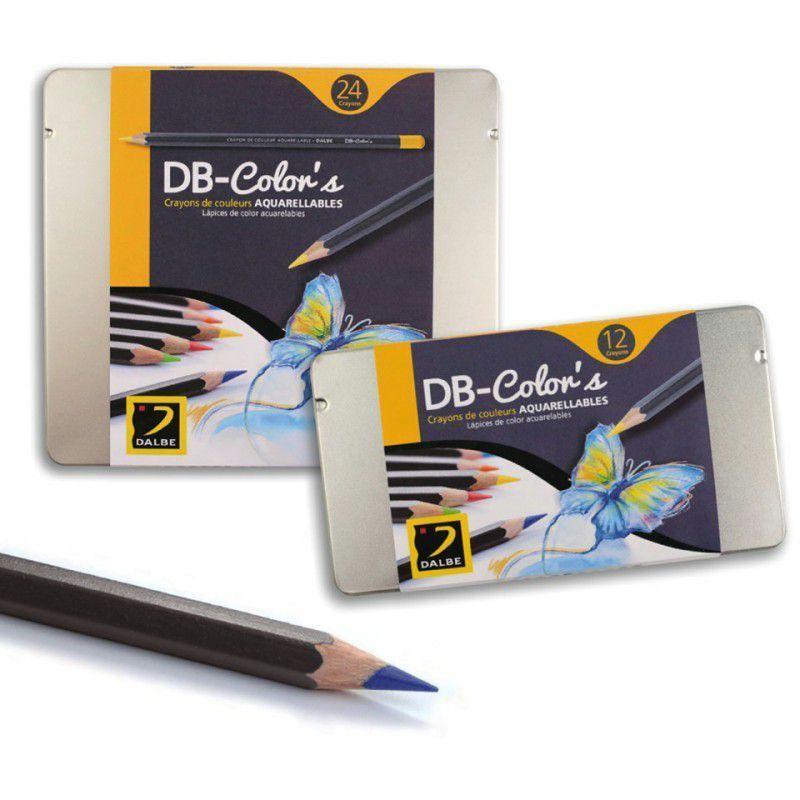 boite de 12 crayons aquarelle db color 39 s dalbe crayon de coloriage creavea. Black Bedroom Furniture Sets. Home Design Ideas