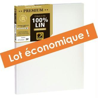 Lot 3 châssis à clés 100% lin Premium 10F