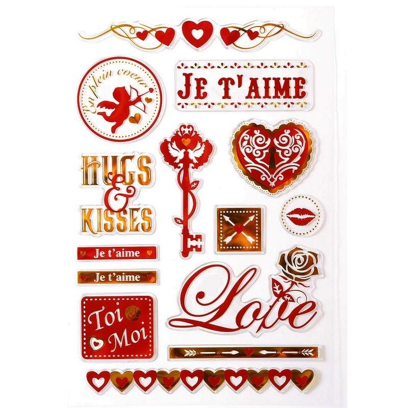Stickers silicone transparent m tallis s motif amour 14 for Amour de cuisine basboussa