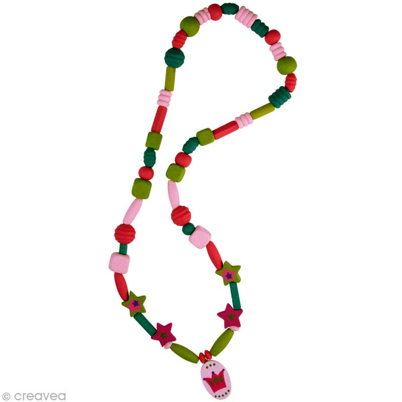Kit perles en bois toiles magiques rose jeux cr atifs for Meuble bois de rose prix