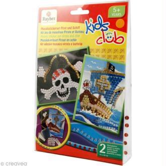Kit mosaïque pour enfant Pirate