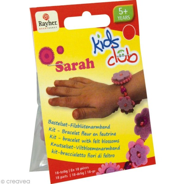 Kit bracelet en feutrine rose et mauve - Sarah - Photo n°1
