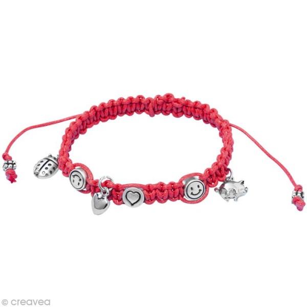 Kit bracelet d'amitié Rockstars - rouge - Photo n°2
