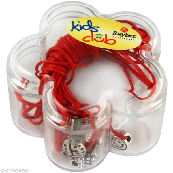 Kit bracelet d'amitié Rockstars - rouge - Photo n°1