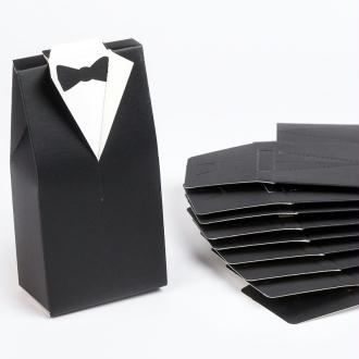 Smokings à garnir noir / blanc (x10)