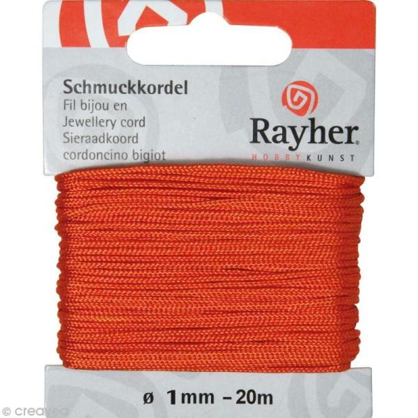 Fil pour bijou 1 mm orange - 20 m - Photo n°1