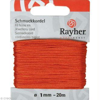 Fil pour bijou 1 mm orange - 20 m