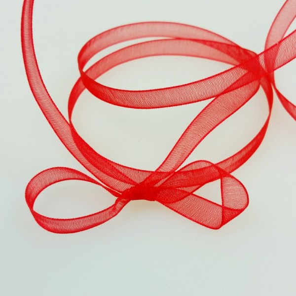Ruban d organdi rouge - Photo n°2