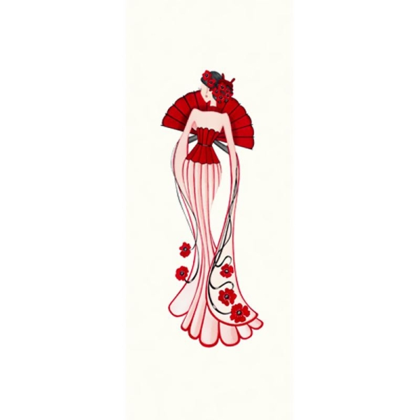 Image 3D Princesse asiatique 20 x 50 cm - Photo n°1