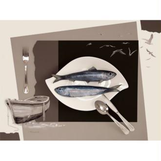 Image 3D Cuisine Sardines 30 x 40 cm