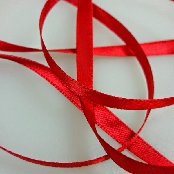 Ruban de satin rouge - Photo n°3
