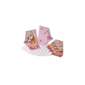 Cartons dinvitations chevaux (x6)