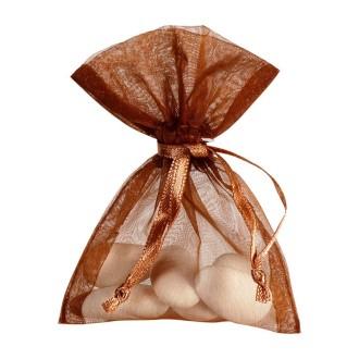 Sacs en organdi chocolat (x10)