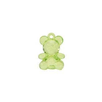 Pendentifs oursons (x10) vert anis