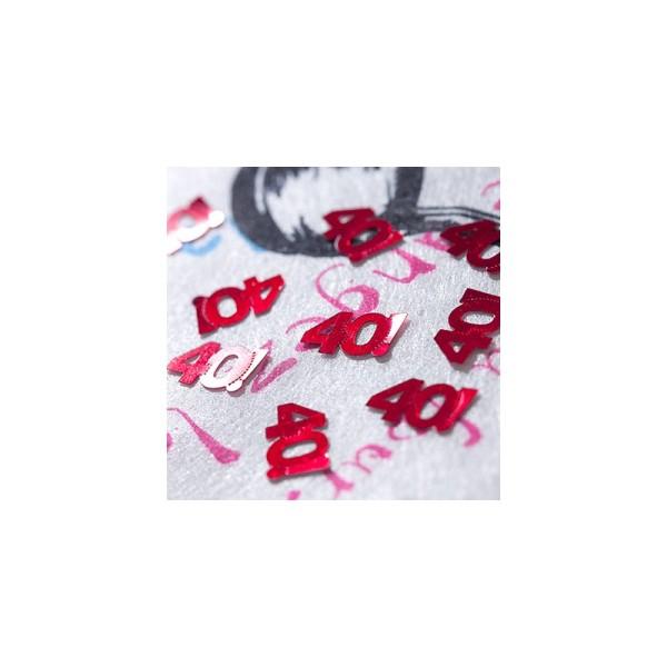 Confettis de table 40 ans - Photo n°2