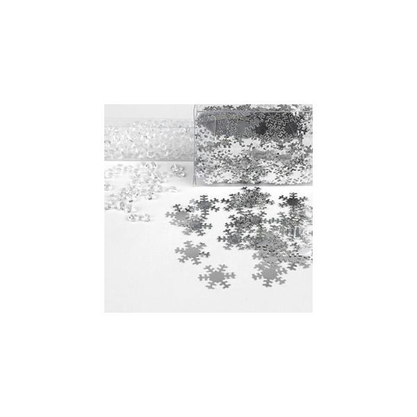 Assortiment flocons et cristaux transparent or - Photo n°3