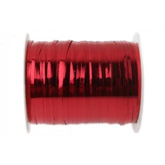 Bolduc métalissé rouge