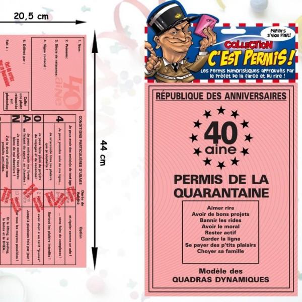 Permis de la quarantaine (40ans) - Photo n°1