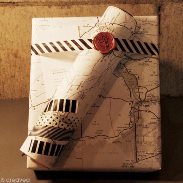 Masking Tape Basic Uni - Marron chocolat - 15 mm x 10 m - Photo n°6