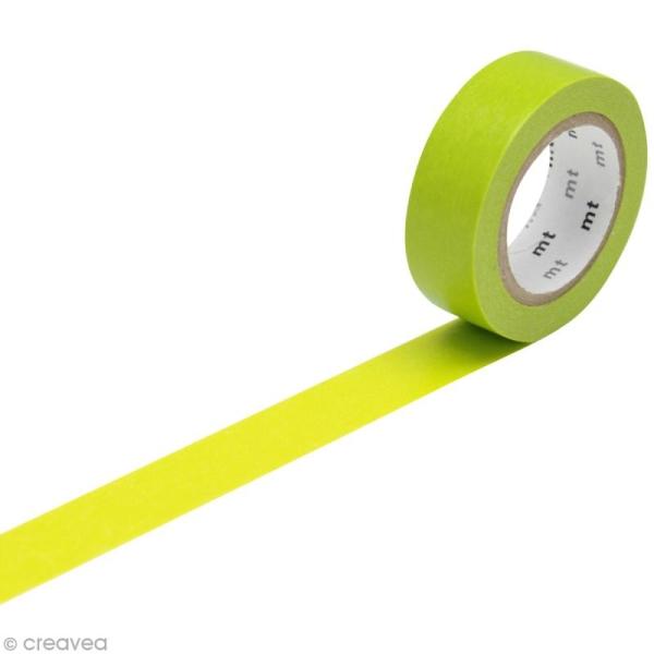 Masking Tape Basic Uni - Vert pré - 15 mm x 10 m - Photo n°1