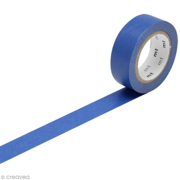 Masking Tape Basic Uni - Bleu nuit - 15 mm x 10 m - Photo n°1