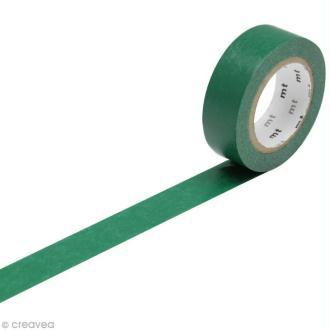 Masking Tape Basic Uni - Vert foncé - 15 mm x 10 m